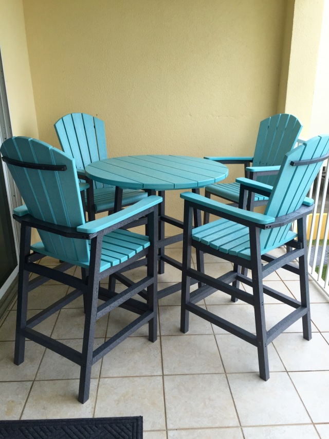 New Patio table and chairs